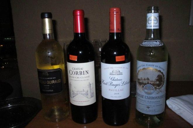 4 Bordeaux Wines