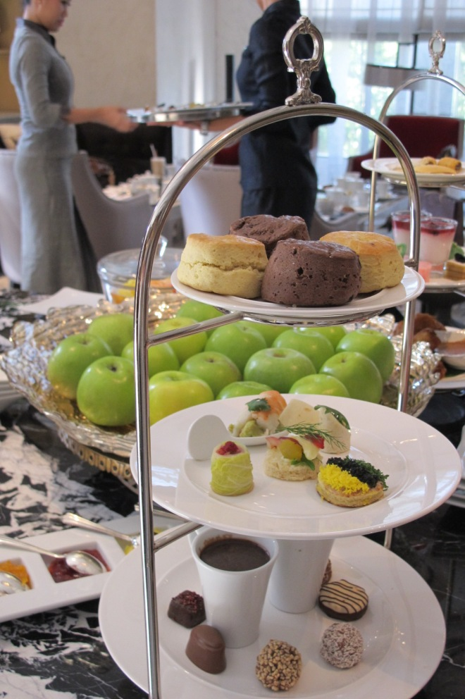 luxury high tea godiva set keraton lounge
